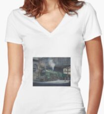 French pacific at Calais. Women's Fitted V-Neck T-Shirt
