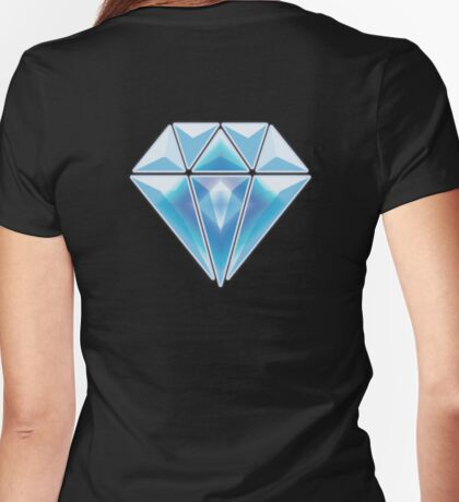 Diamond, Ring, Gem, Gemstone, on Black Womens Fitted T-Shirt