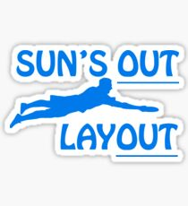 Sun's Out, Layout Sticker