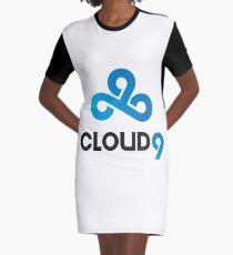 Cloud 9 Logo LOL and CS:GO Team Graphic T-Shirt Dress