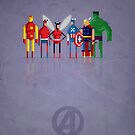 8-bit Marvelous Avenging Heroes by capdeville13