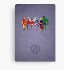 8-bit Marvelous Avenging Heroes Canvas Print