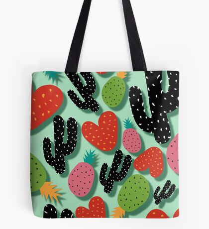 Cactus Love and Pineapples Tote Bag