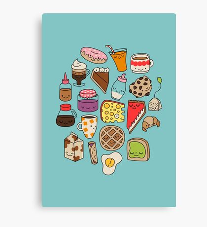 Brunch by Elebea Canvas Print