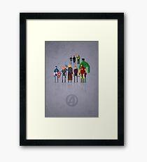 8-bit Marvelous Avenging Heroes Framed Print