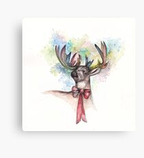 Bowtie Stag Canvas Print