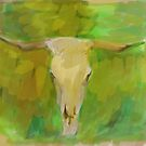 Bleached Cow Skull by Sarah Butcher