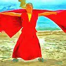 Monk in red by ashishagarwal74
