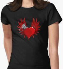 Heart Bomb Womens Fitted T-Shirt
