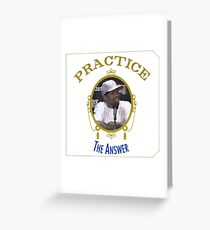 Practice - The Answer Greeting Card