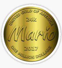 Mario is 24k gold Sticker