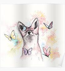 Butterfly Fox Poster