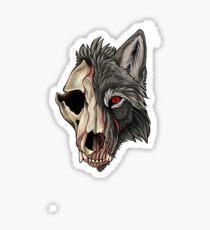A ghoulish hound Sticker