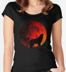 Wolf Howl Women's Fitted Scoop T-Shirt