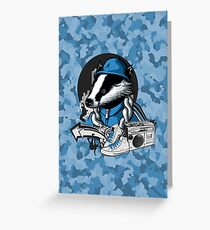 B-Boy Badger Greeting Card
