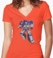Soundwave Transformers Women's Fitted V-Neck T-Shirt