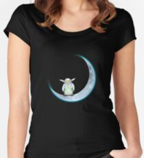 Fuzzy Moon Monster Women's Fitted Scoop T-Shirt
