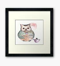 Time For Tea Owl Framed Print