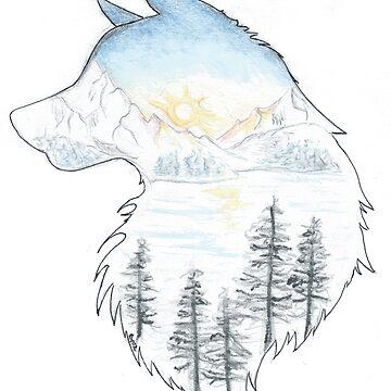 Winterwolf by Saxifraga-Art