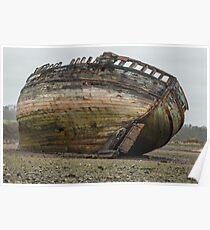 Boat Wreck Dulas Bay  Poster