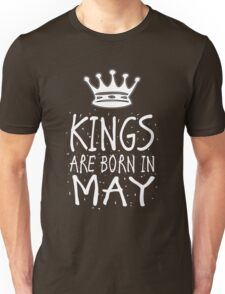 Kings Are Born In May Birthday Gift Shirt Christmas Cute Funny Taurus Gemini Zodiac Unisex T-Shirt