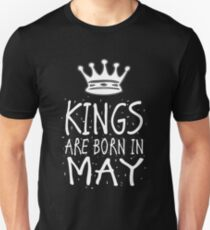 Kings Are Born In May Birthday Gift Shirt Christmas Cute Funny Taurus Gemini Zodiac T-Shirt