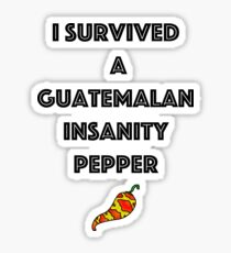 Guatemalan Survivor Sticker