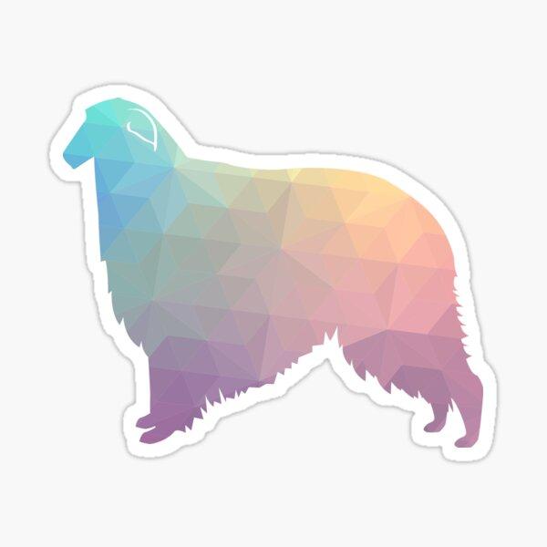 Borzoi Dog Breed Geometric Pattern Silhouette - Pastel Sticker
