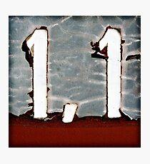 1,1 Photographic Print