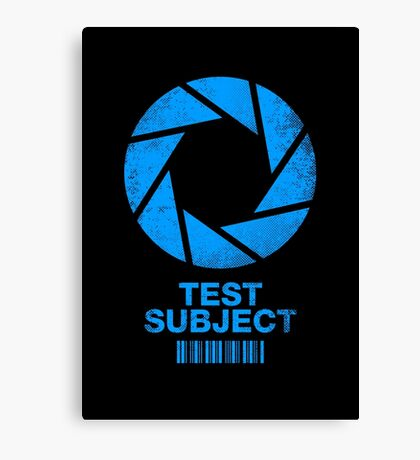 Test Subject -blue- Canvas Print