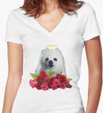 RIP Gabe The Dog. Bork Forever Women's Fitted V-Neck T-Shirt