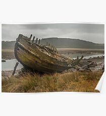 Abandoned Fishing Boat Poster