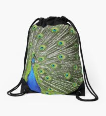 Peacock wide Drawstring Bag