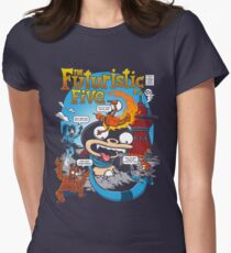 The Futuristic Five Womens Fitted T-Shirt
