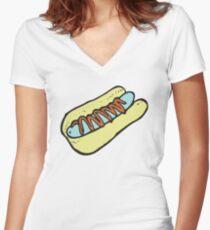 Skeeter Hotdog Women's Fitted V-Neck T-Shirt