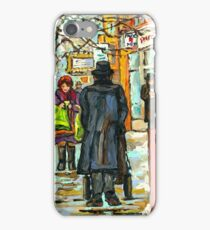 MONTREAL WINTER STREET MONTREAL RIALTO THEATRE iPhone Case/Skin