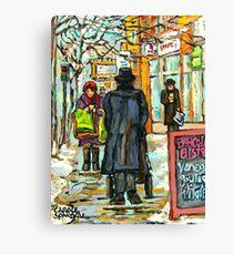 MONTREAL WINTER STREET MONTREAL RIALTO THEATRE Canvas Print