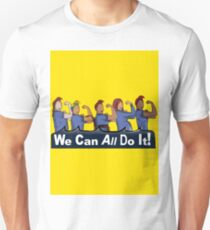 We can All do it- #LoveTrumpsHate Slim Fit T-Shirt