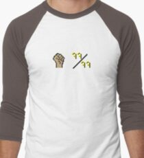 Oldschool Runescape 99 Strength Men's Baseball ¾ T-Shirt