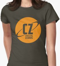 Crossing Zebras Orb Graphic Women's Fitted T-Shirt
