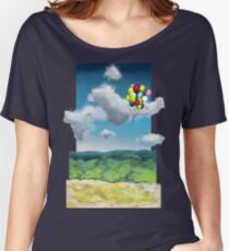 Balloons Over a Sky Women's Relaxed Fit T-Shirt