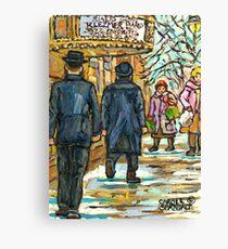 RIALTO THEATRE KLEZMER BAND MUSIC MONTREAL ART CANADIAN ARTIST Canvas Print