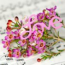 floral sheet music by Maria Dryfhout