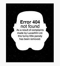 Error 404 Photographic Print