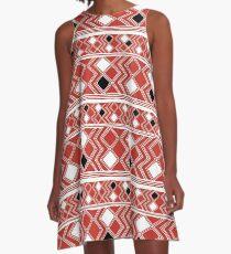 Yuchi Red Square A-Line Dress