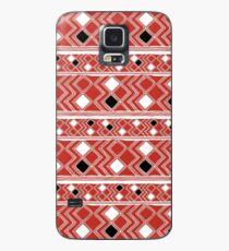 Yuchi Red Square Case/Skin for Samsung Galaxy