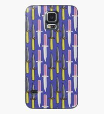 Double Knives in Purple Case/Skin for Samsung Galaxy