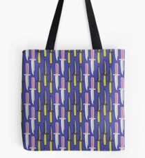 Double Knives in Purple Tote Bag