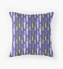 Double Knives in Purple Throw Pillow