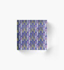 Double Knives in Purple Acrylic Block